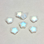 Czech Pressed Glass Bead - Star 08MM MATTE CRYSTAL AB