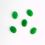 German Plastic Flat Back Buff Top Cabochon - Oval 08x6MM JADE MATRIX