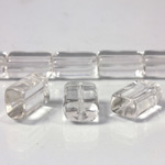 Glass Bead TablePolished -  Cushion 12x8MM CRYSTAL