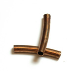 Brass Curved Bead - Hollow Tube 20x3MM RAW