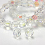Chinese Cut Crystal Bead - Round Disc Side Drilled 04MM CRYSTAL AB
