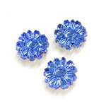 Glass Flat Back Foiled Mirror - Daisy 10MM LT SAPPHIRE