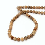 Gemstone Bead - Smooth Round 06MM LANDSCAPE JASPER