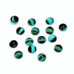 Glass Medium Dome Cabochon - Round 05MM BLUE TORTOISE