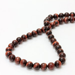 Gemstone Bead - Smooth Round 08MM TIGEREYE RED
