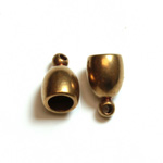 Machine Made Brass Pendant with 1-Loop Bell Cap 13MM RAW Unplated