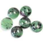 Gemstone Cabochon - Round 12MM ZOISITE RUBY