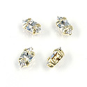 Crystal Stone in Metal Sew-On Setting - Navette 06x3MM MAXIMA CRYSTAL-RAW