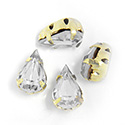 Crystal Stone in Metal Sew-On Setting - Pear 08x4.8MM CRYSTAL-RAW