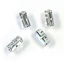 Crystal Stone in Metal Sew-On Setting - Baguette 07x3MM MAXIMA CRYSTAL-SILVER