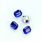 Plastic Point Back Foiled Stone - Cushion Octagon 10x8MM SAPPHIRE