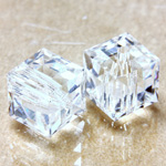 Preciosa Crystal Bead - Square 08MM CRYSTAL