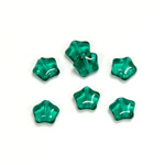 Czech Pressed Glass Bead - Star 08MM EMERALD