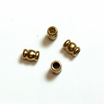 Brass Machine Made Bead - Fancy Tube 04x3MM RAW BRASS