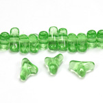 Czech Pressed Glass Bead -Tri-Y 11x9MM PERIDOT