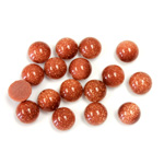 Man-made Cabochon - Round 06MM BROWN GOLDSTONE