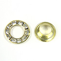 Czech Rhinestone GroMMet 2-part CRYSTAL-RAW