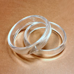 Acrylic Bangle - Wide Domed 18MM CLEAR