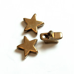 Machine Made Brass Pendant with Smooth Star 08MM RAW BRASS