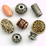 Metalized Antique Finish Beads