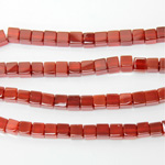 Gemstone Bead - Cube Smooth 06x6MM CORNELIAN