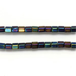 Czech Glass Fire Polished Bead - Atlas 04x4MM IRIS BLUE