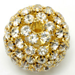 Rhinestone Ball 35MM CRYSTAL-SILVER