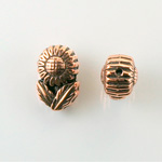 Metalized Plastic Bead - Daisy 16x11MM ANTIQUE COPPER