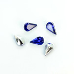 Plastic Point Back Foiled Stone - Pear 10x6MM SAPPHIRE