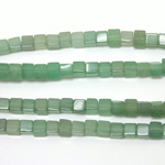 Gemstone Bead - Cube Smooth 06x6MM AVENTURINE-GREEN