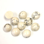 Gemstone Cabochon - Round 08MM WHITE HOWLITE