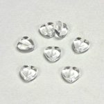 Czech Pressed Glass Bead - Smooth Heart 08x8MM CRYSTAL