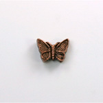 Metalized Plastic Bead - Butterfly 12x9 ANT COPPER