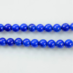 Gemstone Bead - Smooth Round 1.5MM Diameter Hole 07MM HOWLITE DYED LAPIS