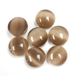 Fiber-Optic Cabochon - Round 11MM CAT'S EYE BROWN