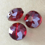 Faceted Crystal Coin Beads