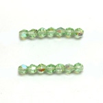 Czech Glass Fire Polished Bead - Bicone 04MM PERIDOT AB