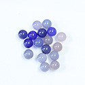 Gemstone No-Hole Ball - 06MM CALCEDON (BLUE AGATE)