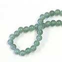 Gemstone Bead - Smooth Round 2.5MM Diameter Hole 08MM LT GREEN AVENTURINE