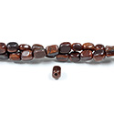 Gemstone Bead - Smooth Nugget 2.5MM Diameter Hole 06x8MM RED TIGEREYE