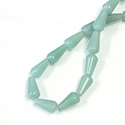 Gemstone Bead - Pear Smooth 15x8MM LT AVENTURINE-GREEN