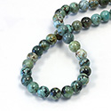 Gemstone Bead - Smooth Round 08MM AFRICAN TURQUOISE