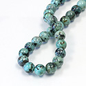 Gemstone Bead - Smooth Round 10MM AFRICAN TURQUOISE