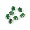 Gemstone Flat Back Single Bevel Buff Top Stone - Oval 07x5MM WYOMING JADE