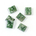 Gemstone Flat Back Single Bevel Buff Top Stone - Cushion 10x8MM WYOMING JADE