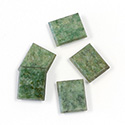 Gemstone Flat Back Single Bevel Buff Top Stone - Cushion 12x10MM WYOMING JADE
