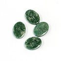 Gemstone Flat Back Single Bevel Buff Top Stone - Oval 14x10MM WYOMING JADE
