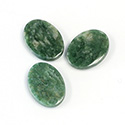 Gemstone Flat Back Single Bevel Buff Top Stone - Oval 16x12MM WYOMING JADE