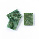 Gemstone Flat Back Single Bevel Buff Top Stone - Cushion 16x12MM WYOMING JADE