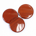 Gemstone Flat Back Buff Top Straight Side Stone - Round 18MM RED JASPER